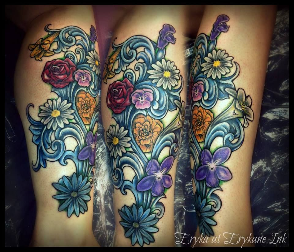 Coolest tattoo ideas ever my own version of alice in wonderlandus flowers uc it erykaneart