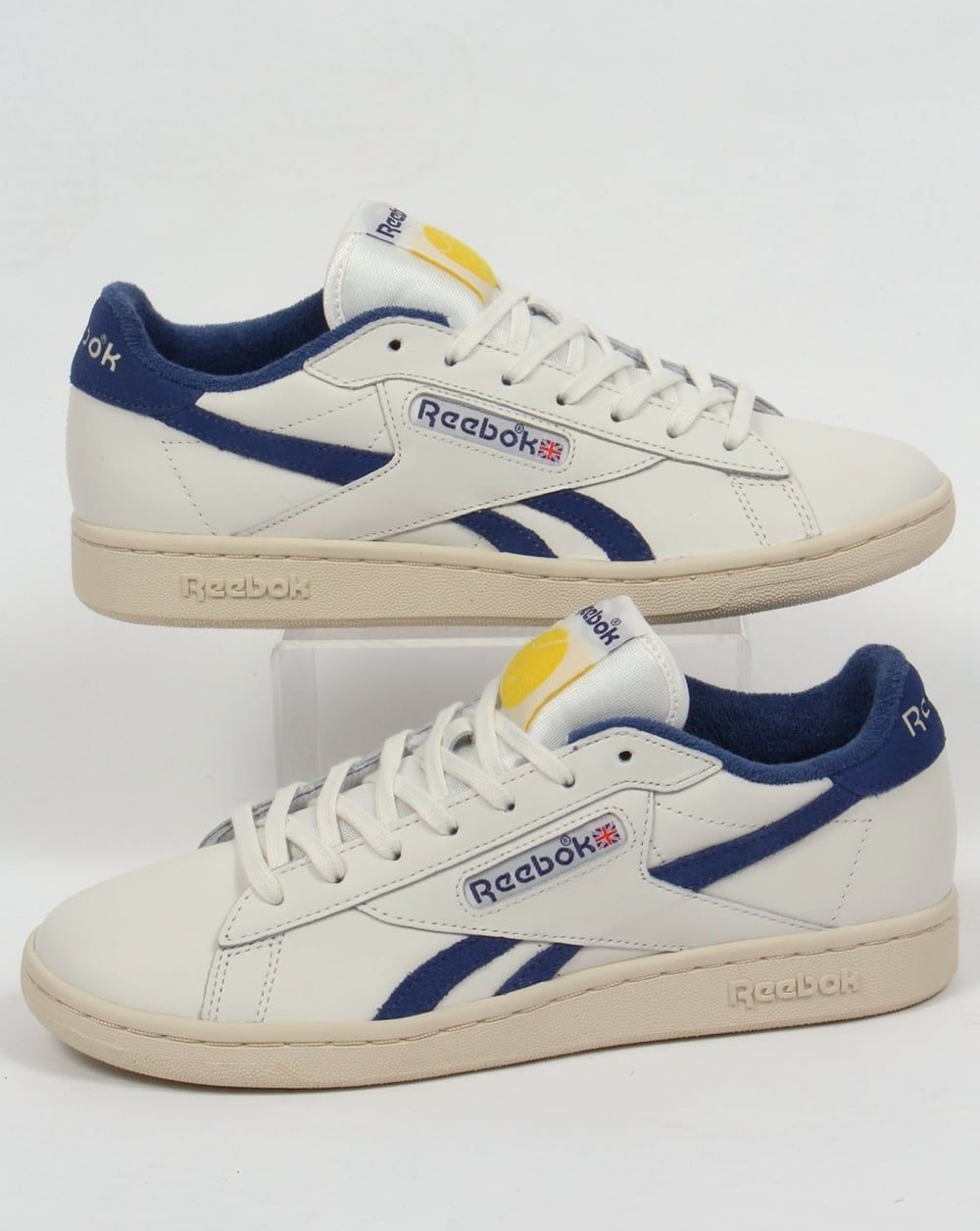 85df3fe2f1f0c Reebok NPC UK Trainers Chalk White Blue