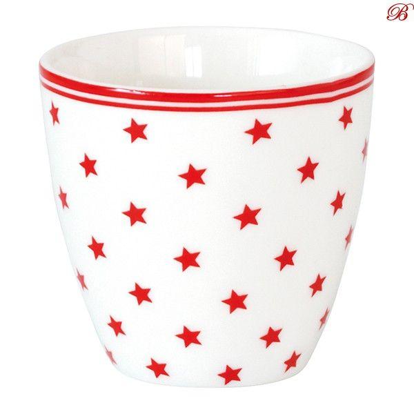 Greengate Espressotassen greengate mini latte becher small white s t a r pa l e