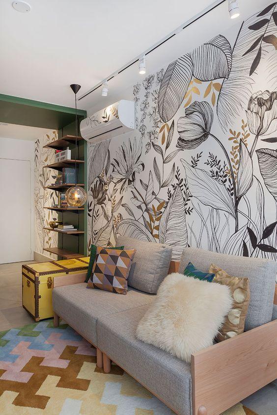 Papier peint nature : motifs fleuris et bucoliques pour votre déco – Rhinov