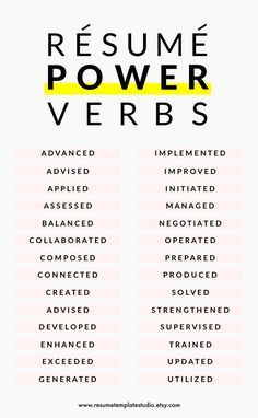 Resume Power Verbs And Resume Tips To Boost Your Resume The Job