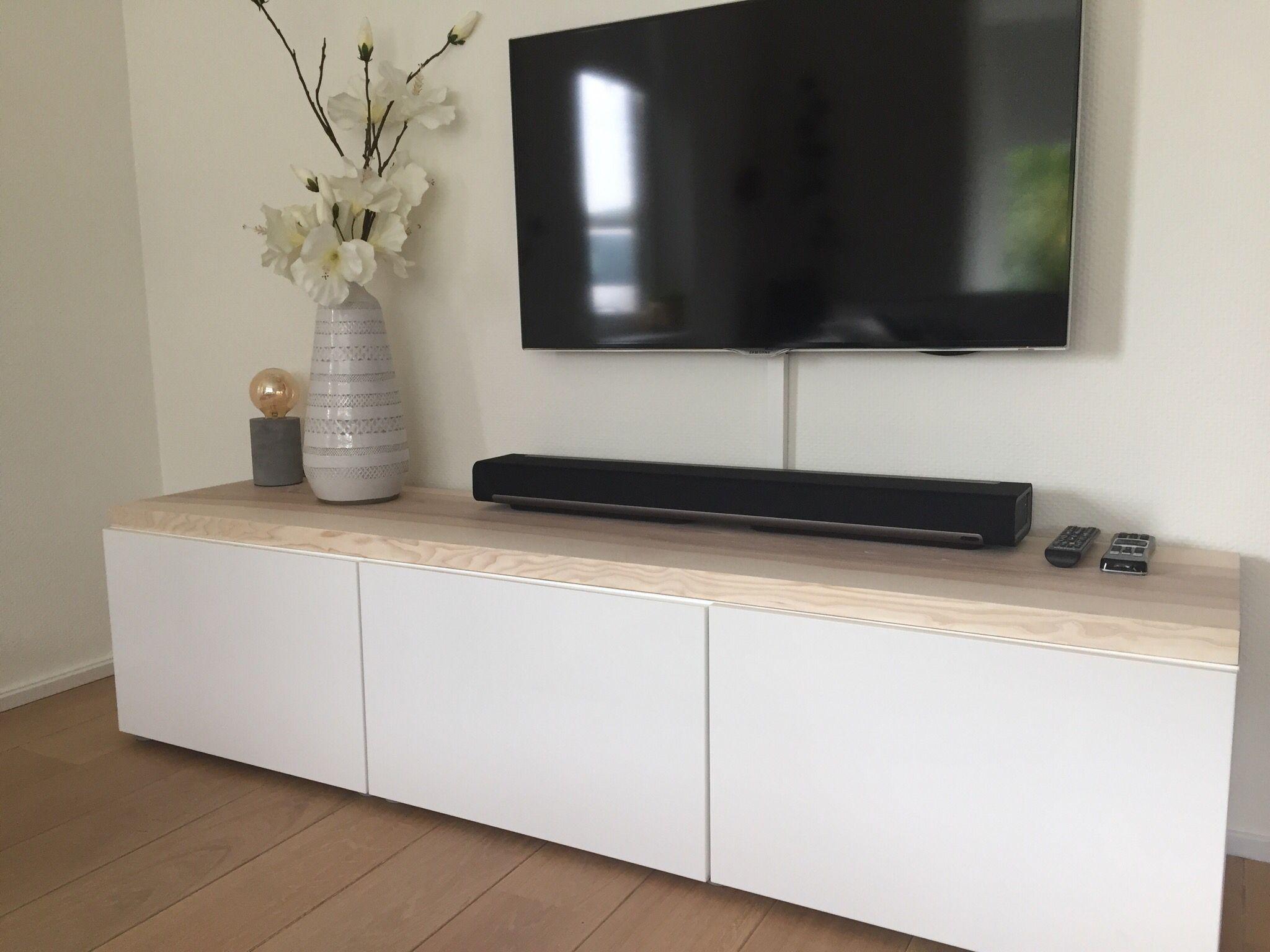 Besta Ikea Hack  Moderne Strakke Tv Meubel