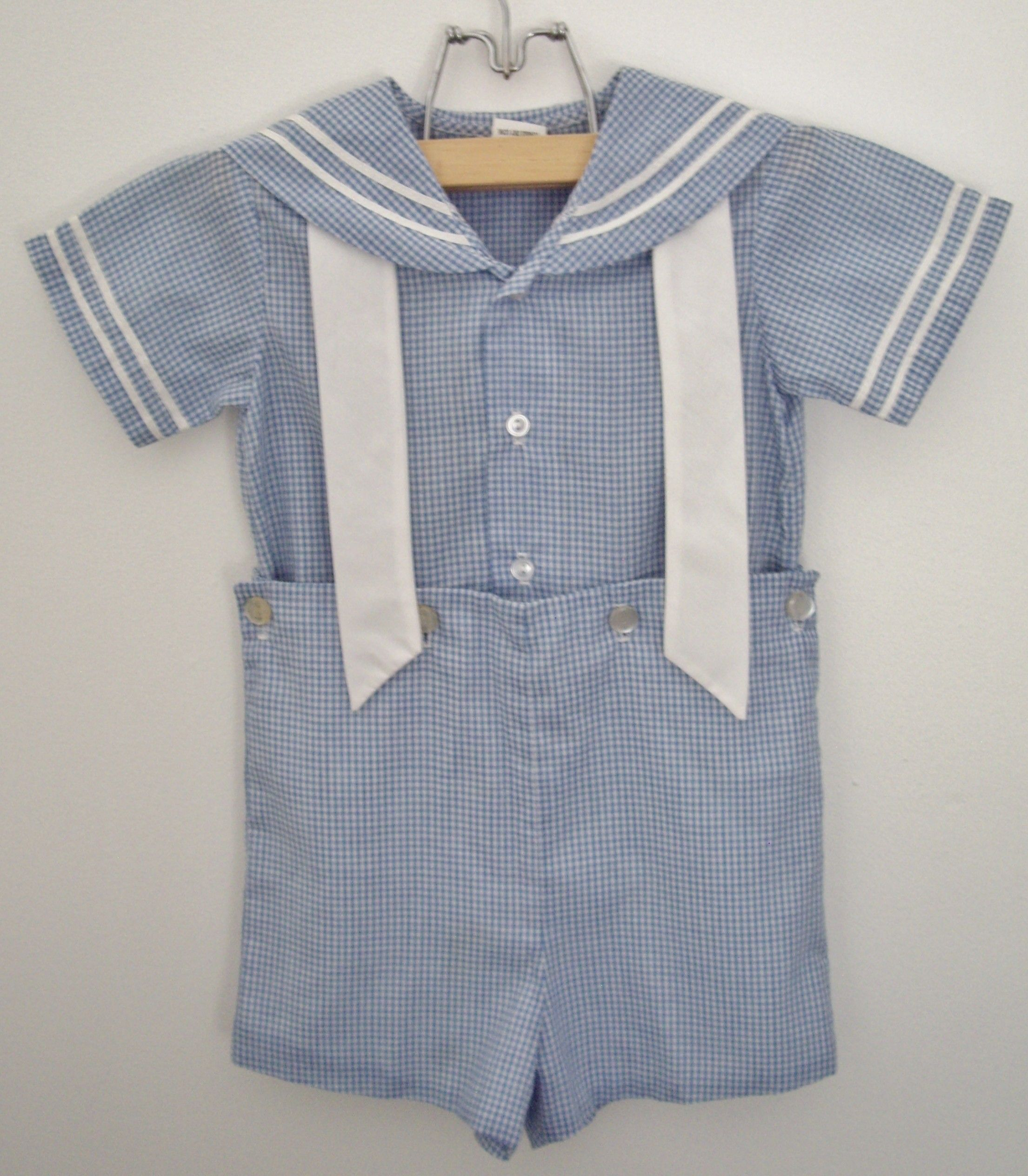 Vintage little boy s nautical sailor outfit circa 1950