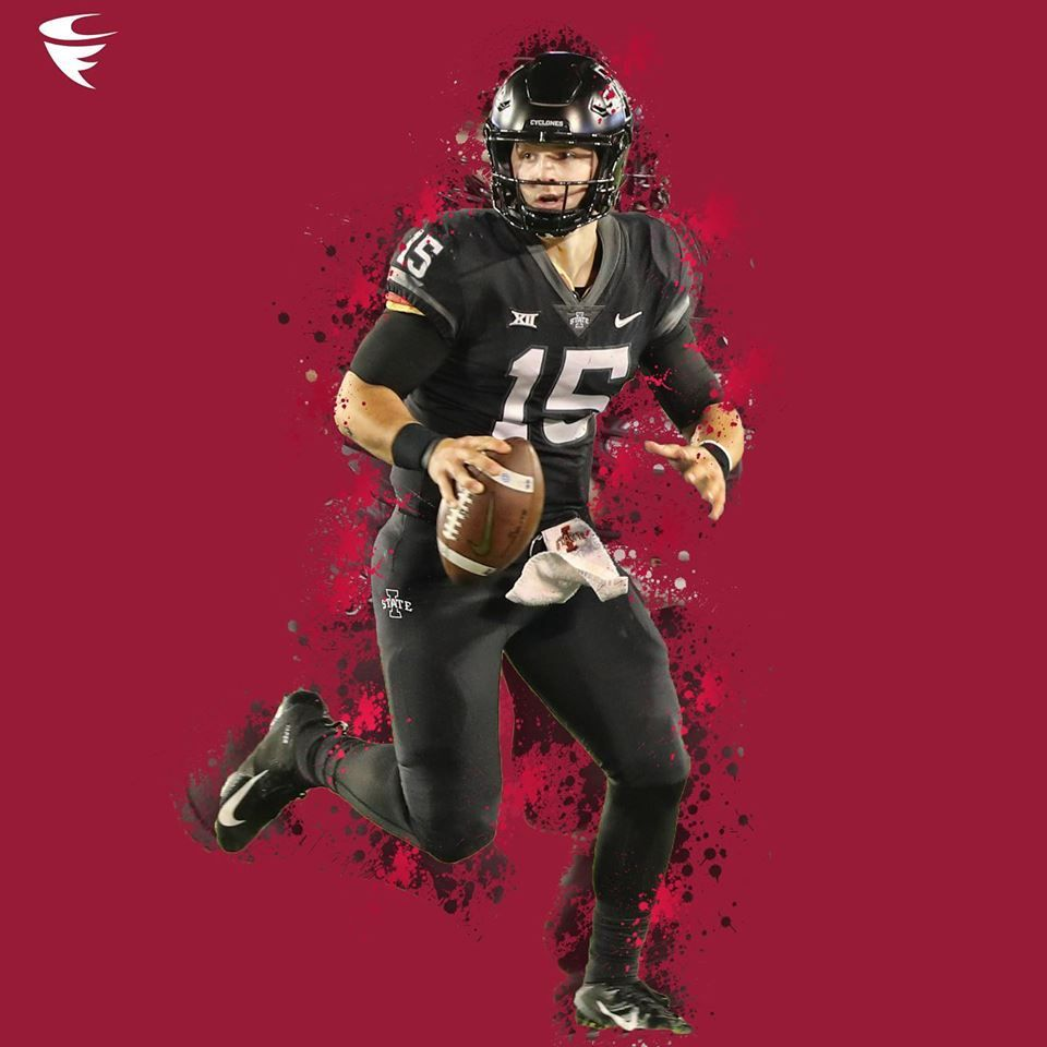 Iowa State Starting Quarterback Brock Purdy Graphic Created By