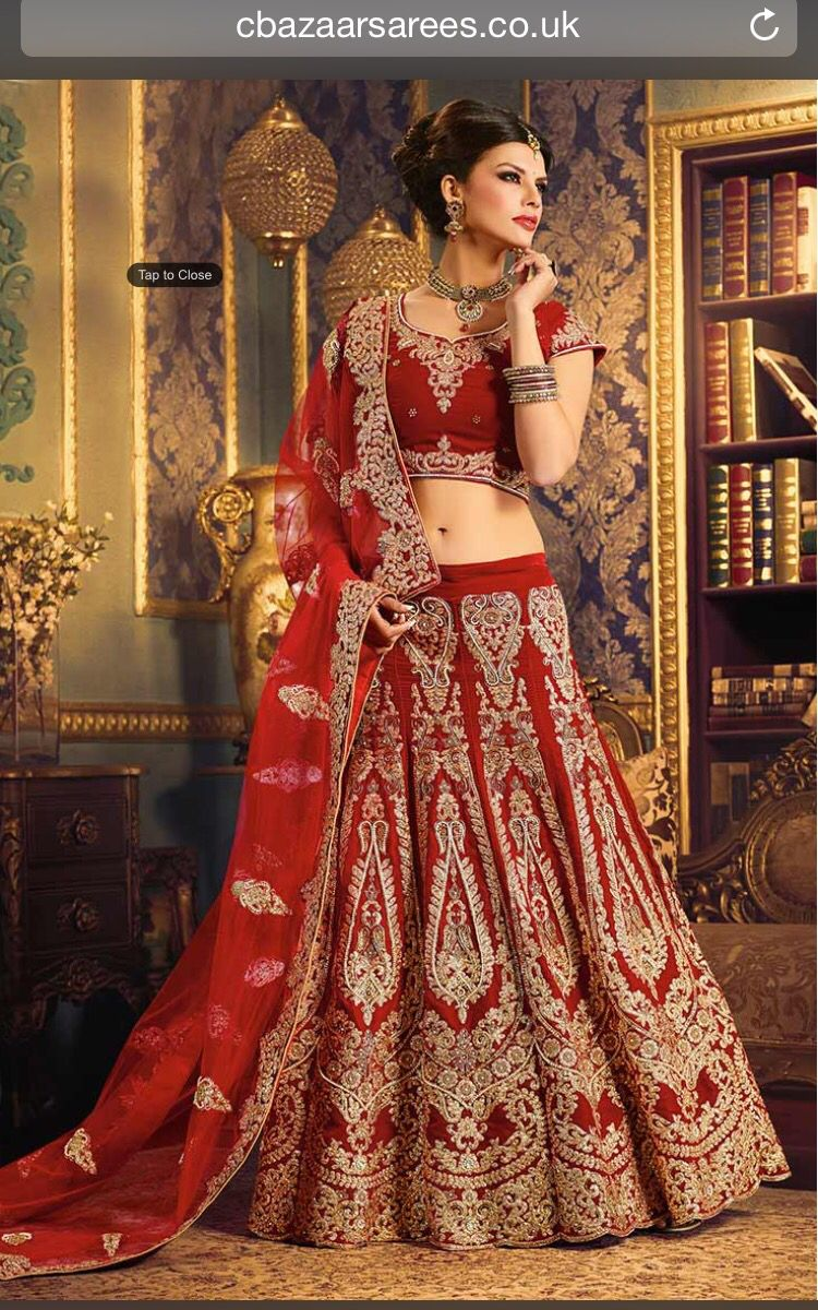 Bridal Lengha Bridal lehenga red, Indian wedding dress