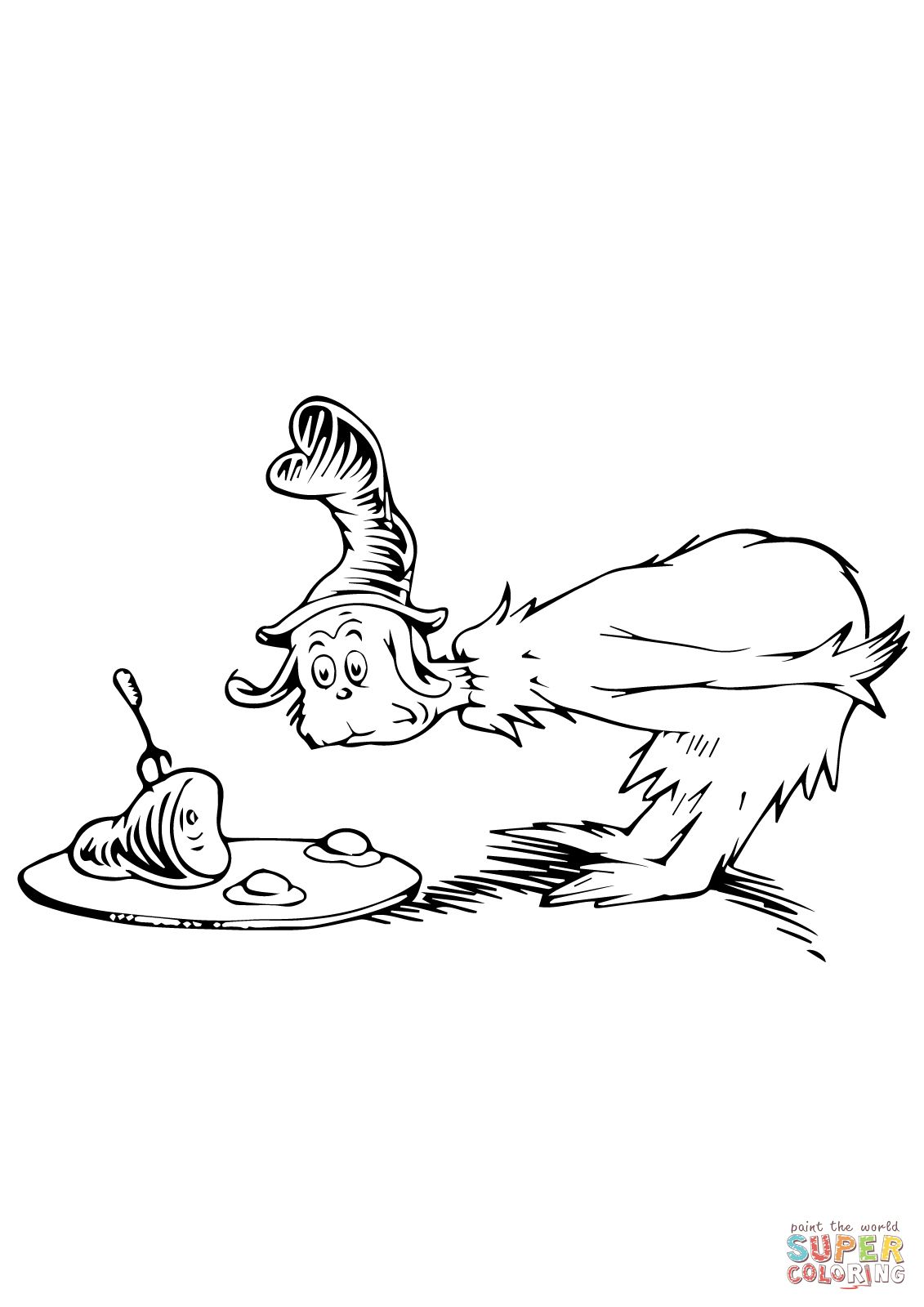 Green eggs and ham coloring page | Dr seuss | Pinterest