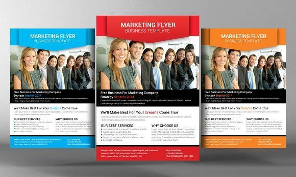 Marketing Flyer Template by Business Templates on @creativemarket - promotional flyer template