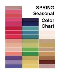 Spring Seasonal Color Chart