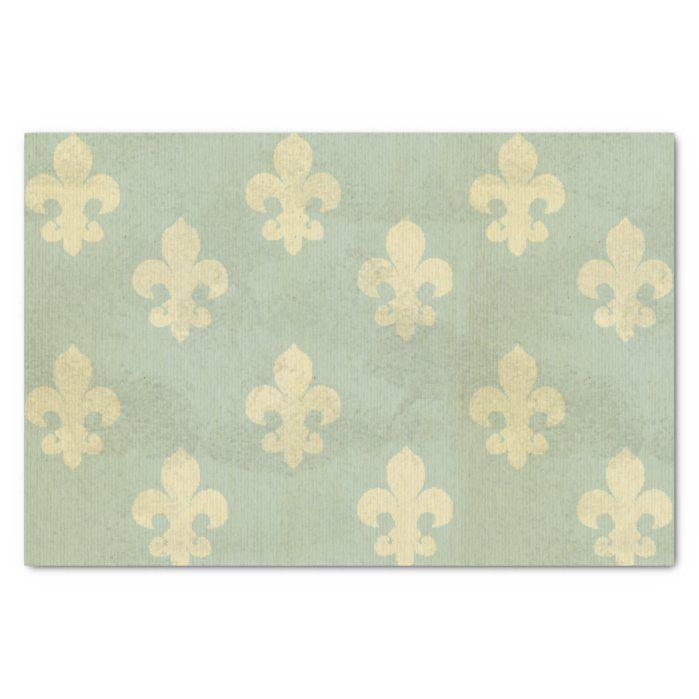 Photo of Grunge,teal,vintage,fleur de lis,pattern,victorian 2 sheets of…