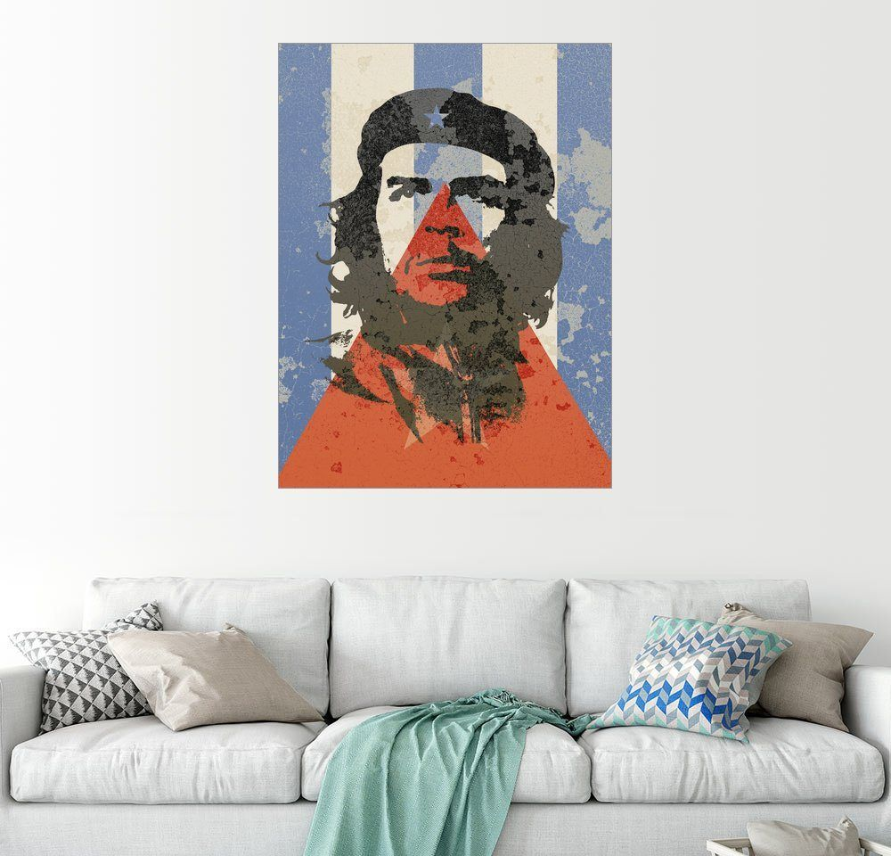 Posterlounge Wandbild - Alex Saberi »Kubanische Flagge und Che Guevara« online kaufen | OTTO