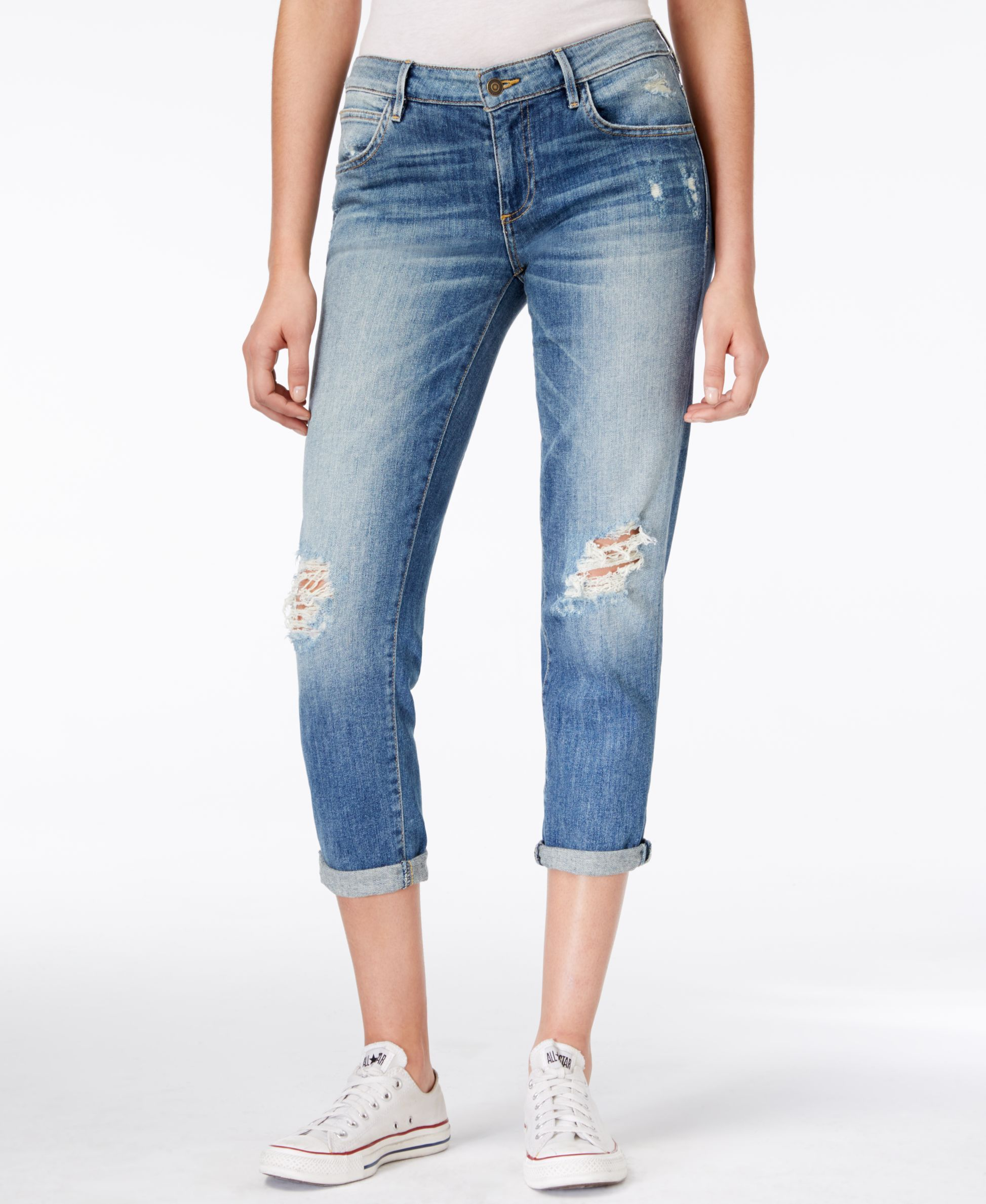 Guess Tomboy Ripped Cropped Inkwell Wash Jeans | Products ...