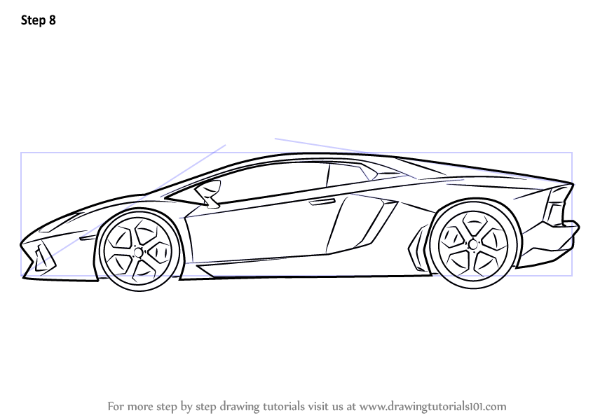 How to Draw Lamborghini Centenario Side View - DrawingTutorials101 ...