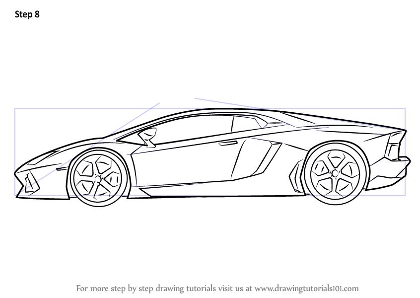how to draw lamborghini centenario side view drawingtutorials101com