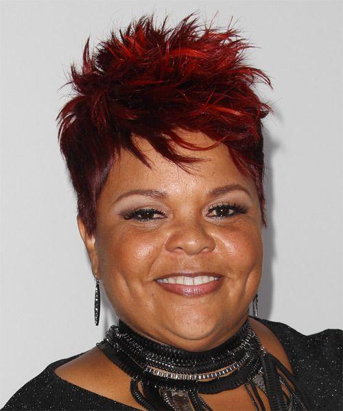 Tamela J Mann Short Straight Dark Red Hairstyle Short Hair Styles Hair Styles Hairstyle