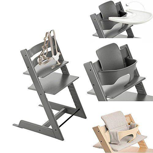 stokke tripp trapp chair w baby set stokke tray grey loom cushion storm grey babby. Black Bedroom Furniture Sets. Home Design Ideas