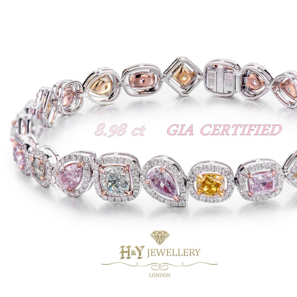 Multi Coloured Fancy Diamond Bracelet Perfect Gift For Her More Information