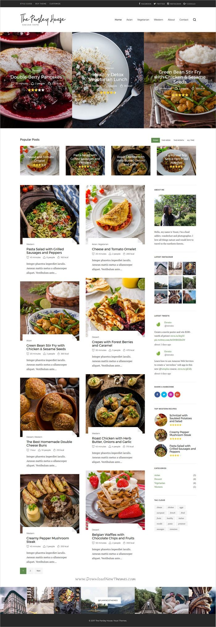 Parsley a recipe wordpress blog theme wordpress blog themes parsley is clean and modern design responsive wordpress theme for food recipe forumfinder