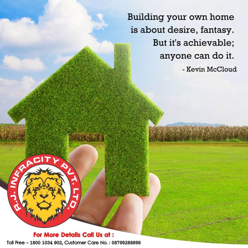 Building your own home is about desire, fantasy, But it's achievable; anyone can do it. http://www.rjinfracity.com/ #Real #Estate #Agents in #Sultanpur, #Property #Dealers in #Sultanpur