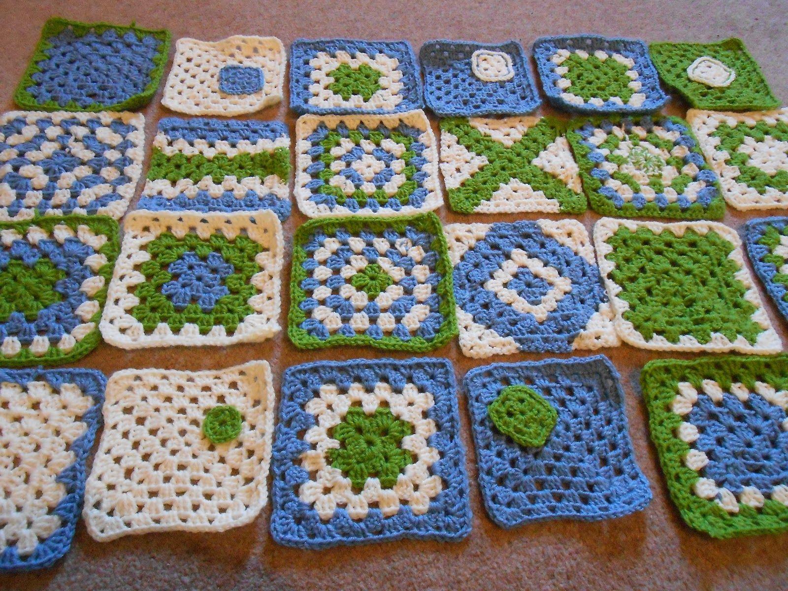 Crochet Baby Granny Square Blanket   Crochet   Pinterest   La abuela ...