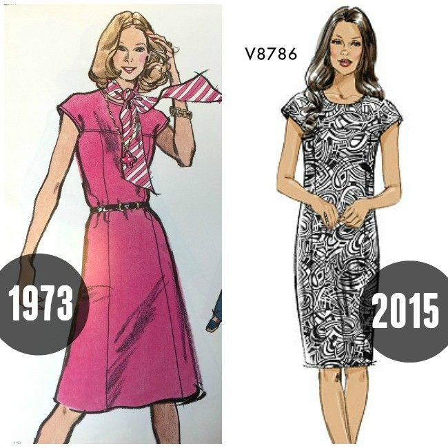 Seventies sewing patterns then and now on the McCall Pattern Company blog.  Sleek c2015f0c2
