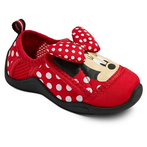 Toddler Girls' Minnie Mouse Water Shoes - Red | Fashion my Little ...