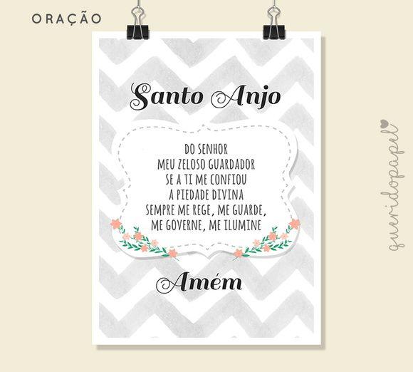 Oracao Santo Anjo Santo Anjo Quadrinho Santo Anjo Para Imprimir