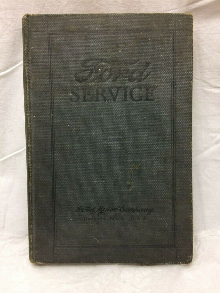 Vintage 1925 Ford Service Book Clymer Ford Models Ford