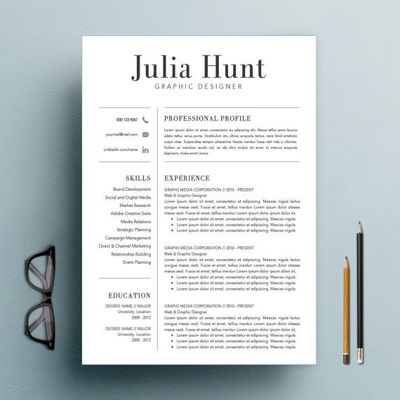 Teacher Resume Template Cv Template And Cover Letter  Teaching