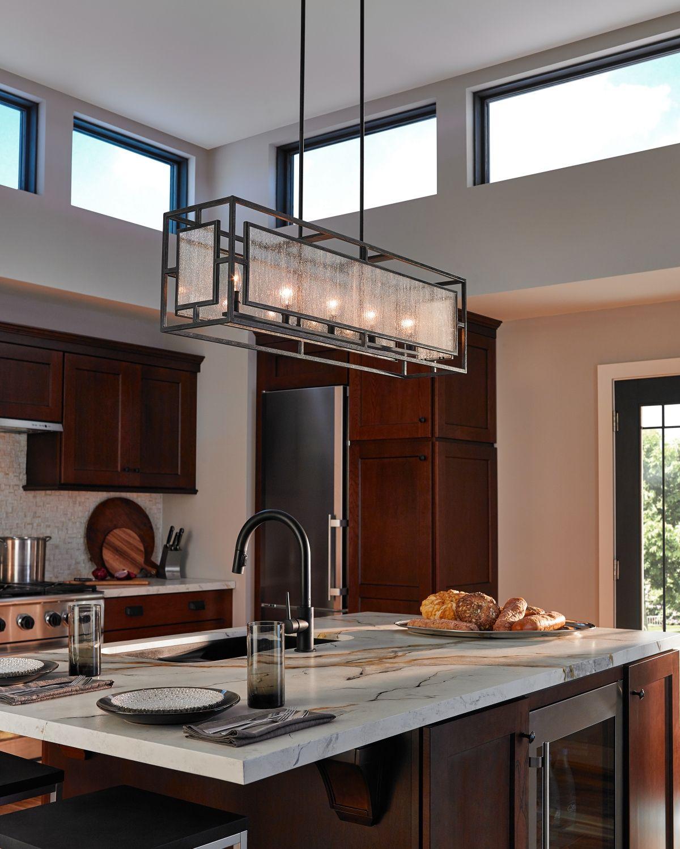 Feiss Prairielands 5 Light Chandelier In Dark Weathered Zinc Modern Outdoor Kitchen Rustic Kitchen Kitchen Lighting Fixtures