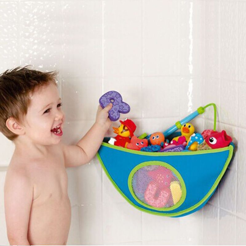 1Pcs Baby Kids Bath Tub Toys Storage Hanging Bag Waterproof Toys ...