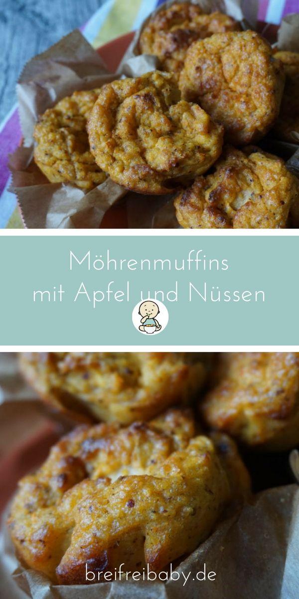 gesunde muffins f r babys m hrenmuffins mit pfeln und n ssen rezept blw abendessen. Black Bedroom Furniture Sets. Home Design Ideas