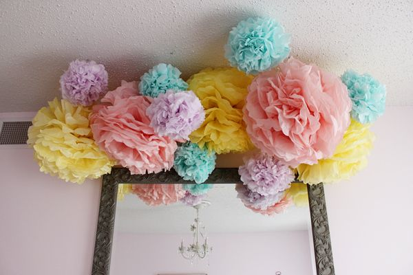 Pretty Colors Caught My Eye But These Would Be For A Baby Shower Or Little S Birthday Party Pinterest Paper Pom Poms Birthdays And Tissue