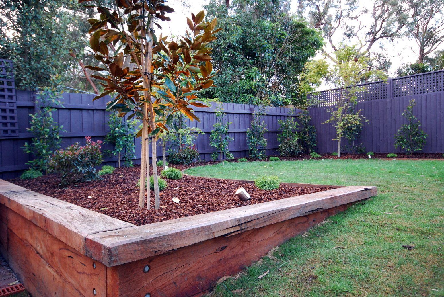 bolts corner   Landscaping retaining walls, Backyard retaining ...