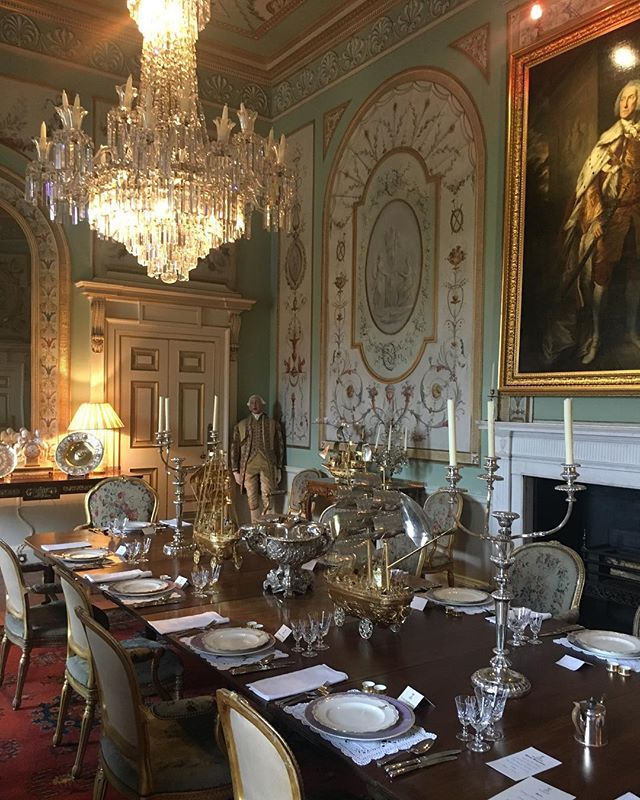 The dining room of Inverary Castle. @graciousopulence # ...
