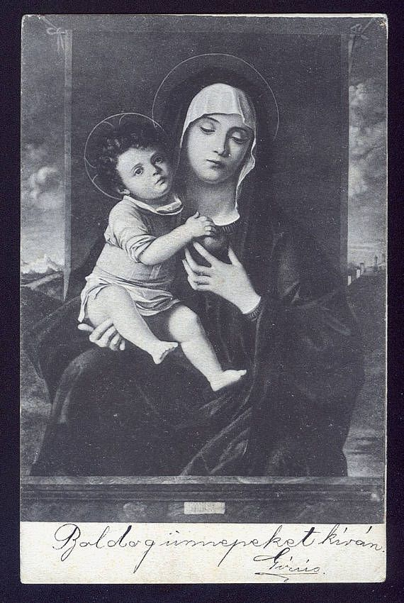 and mary picture Vintage christ