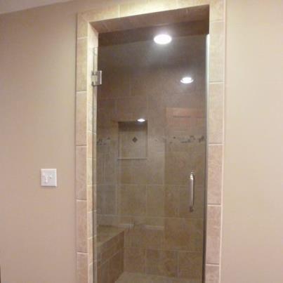 Frameless Single Shower Door Pinnacle Wall Mount Hinges 8