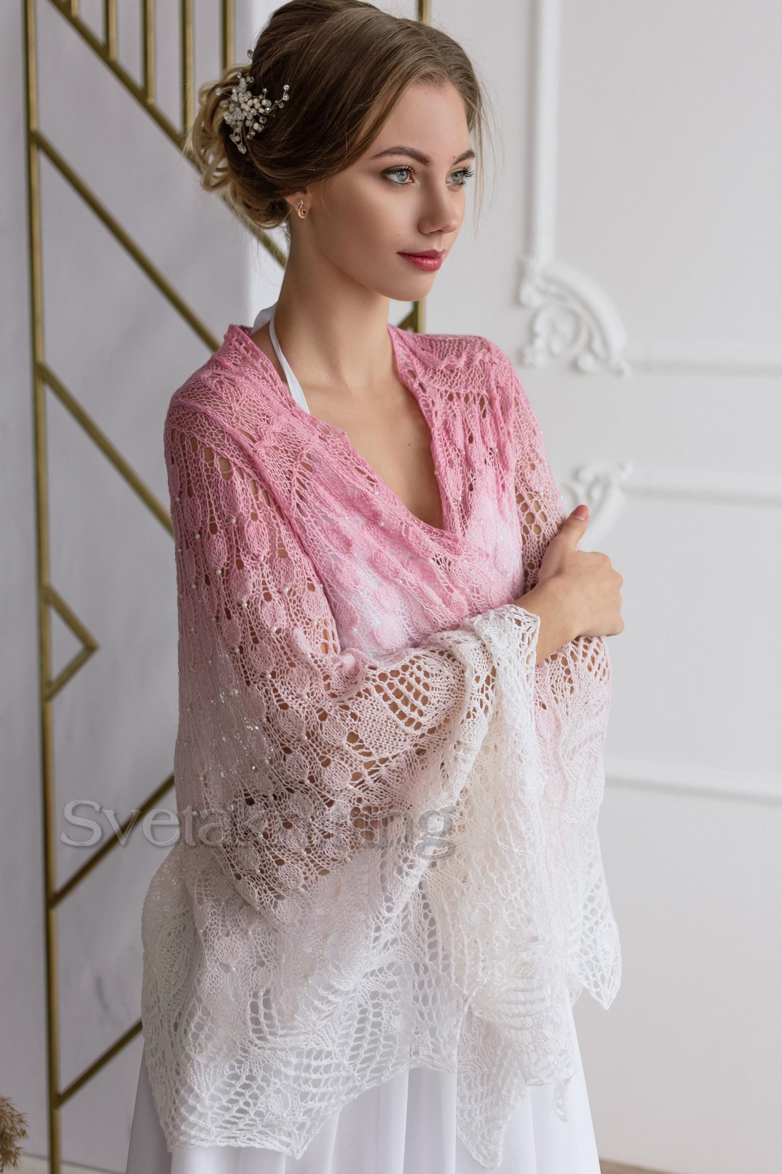 Wedding Shawls And Wraps Knitted Wedding Lace Shawl Gift For Etsy In 2020 Wedding Shawl Bridal Lace Mother Of Groom Dresses