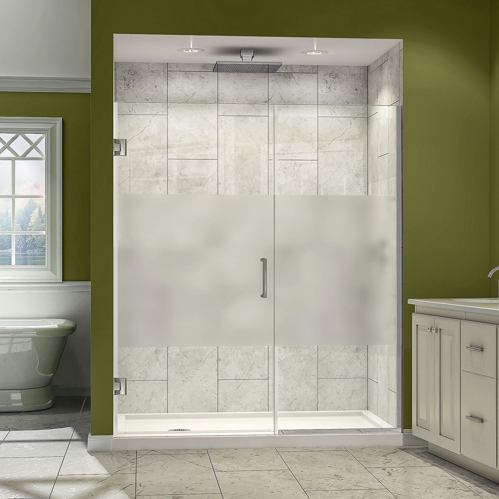 Dreamline Shdr 245907210 Hfr 01 Unidoor Plus 59 To 59 1 2 In W X 72 In H Shower Door Half F Shower Doors Frameless Hinged Shower Door Frameless Shower Doors