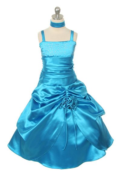 New Girl Glitz Pageant Wedding Bolero Ruffled Dress Fuchsia//Silver2 4 6 8 10 12
