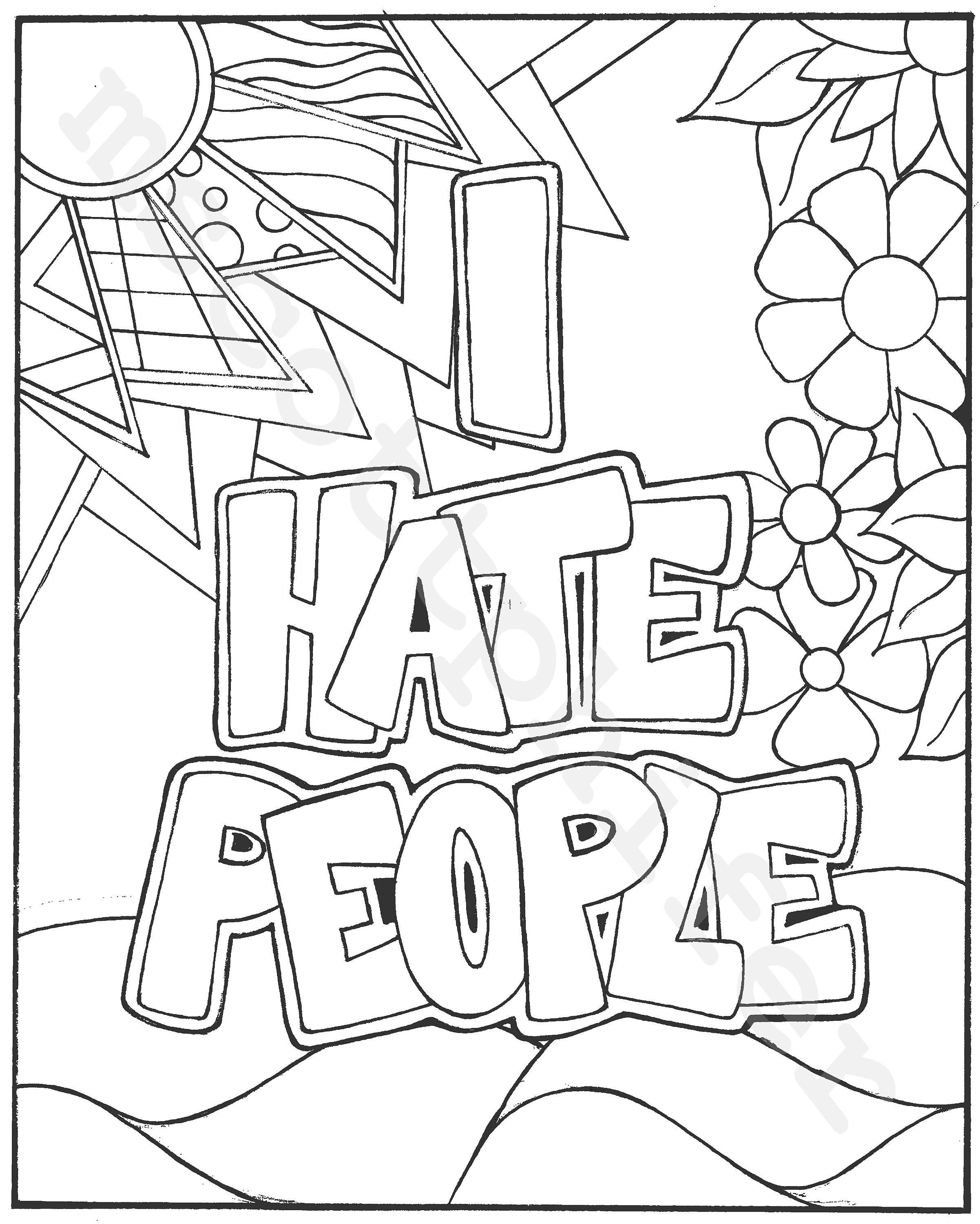Pin On Cuss Word Coloring Pages