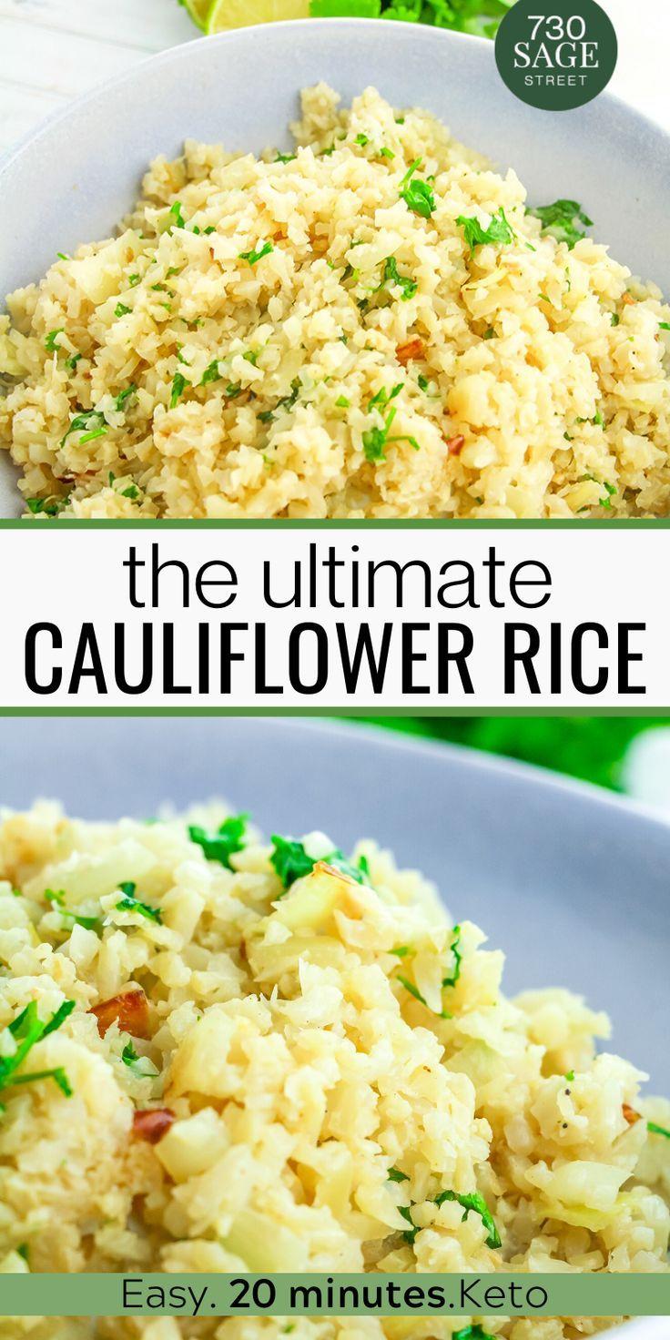 Easy Cilantro Lime Cauliflower Rice