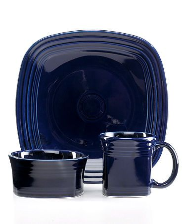 Fiesta Dinnerware Square 3 Piece Place Setting- several place settings please  sc 1 st  Pinterest & Fiestaware Square 3-Place Setting Cobalt Blue | Wedding Registry ...