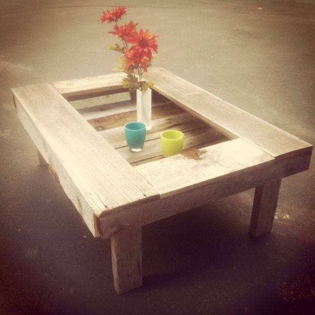 Old Coffee Table Outdoor: Homemade Coffee Table Made Out Of Old Barn Wood