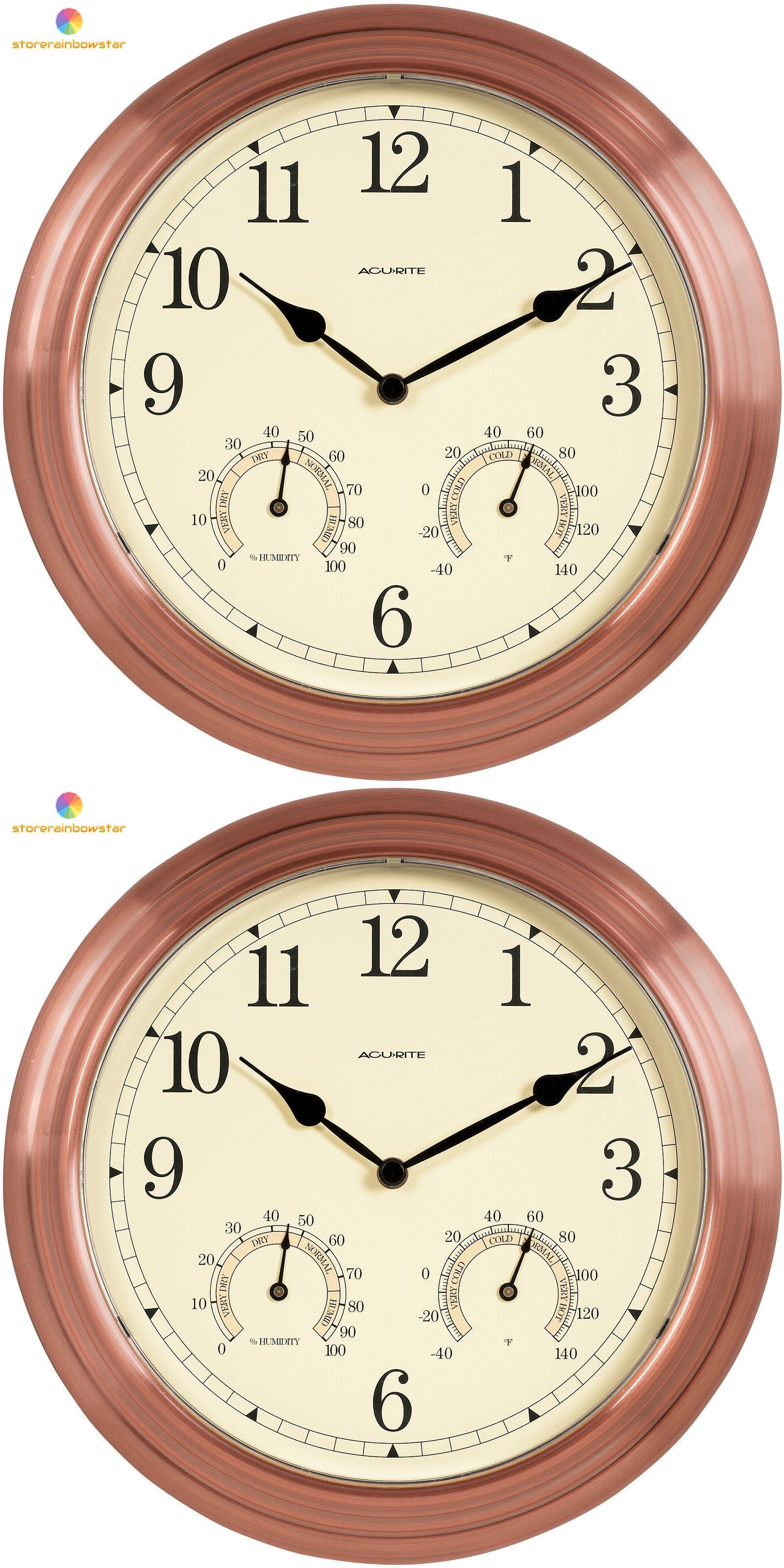 Patio wall clocks crunchymustard wall clocks 20561 outdoor clock thermometer garden patio amipublicfo Choice Image