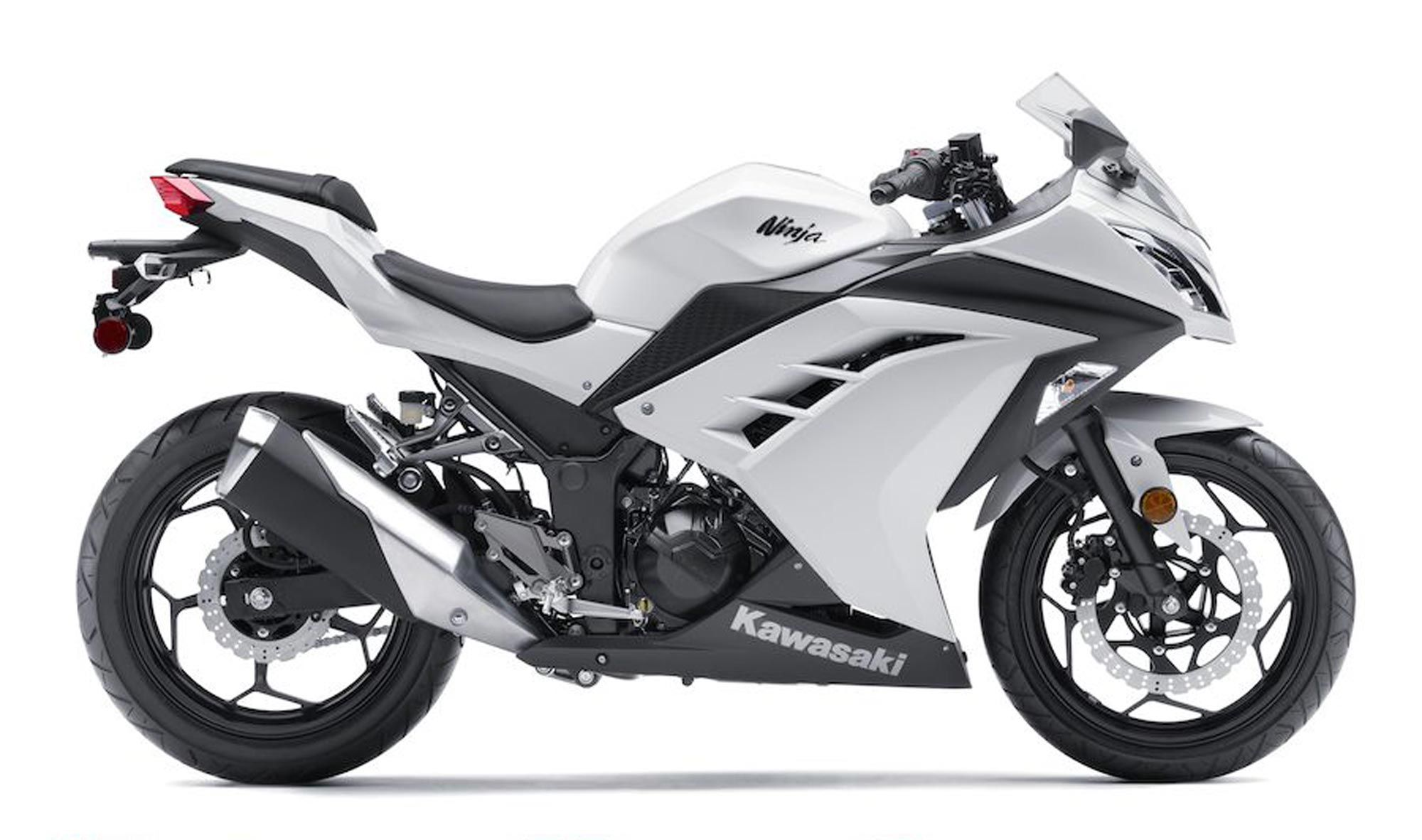 White Kawasaki Ninja 300 abs Motorcycle Google Search