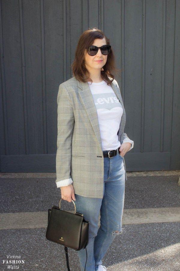 Glencheck Blazer & Statement Bag Lexi von Aigner | Vienna Fashion Waltz