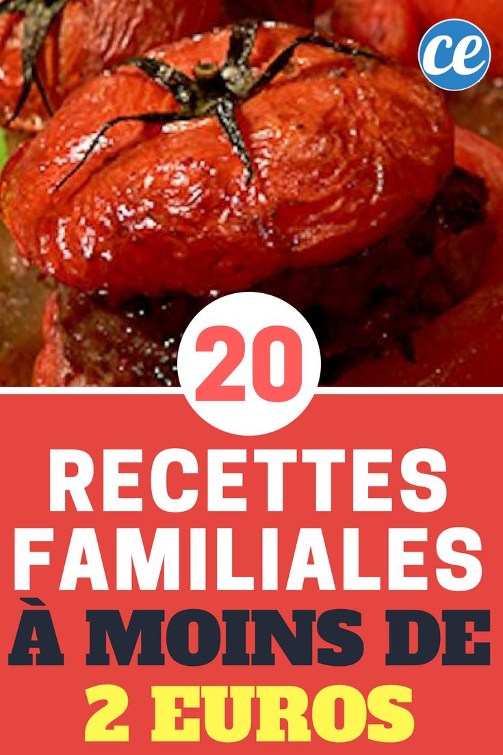 Notre livre de cuisine 20 recettes familiales moins de - Cuisine economique 1001 recettes ...