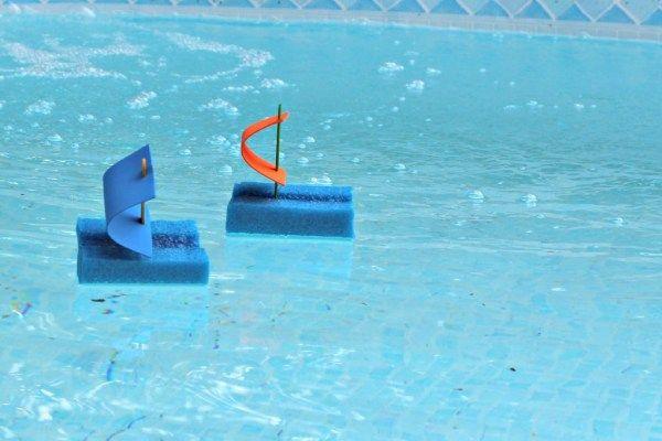 Pool Noodle Boats racing.1