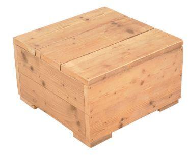 Tafel van nieuw steigerhout kist naar voorbeeld van de for Pallet tafel zelf maken