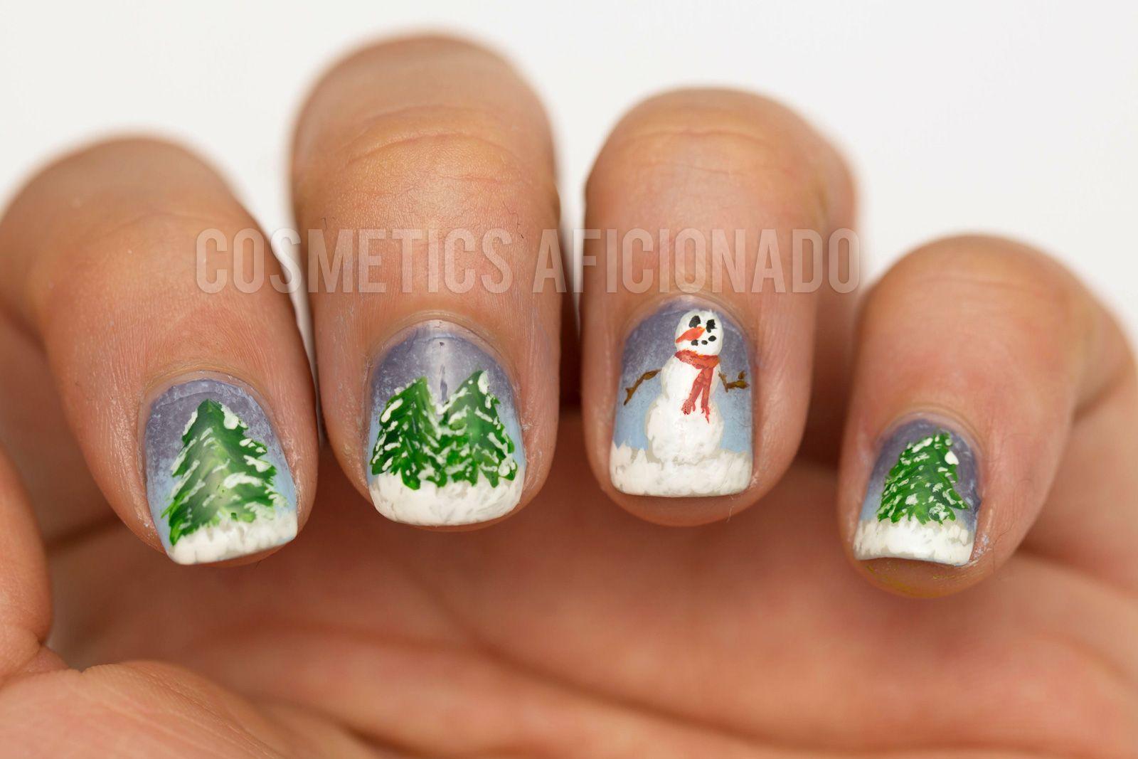 Winter Scene Nail Art Pinterest